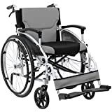 Plegable de aluminio autopropulsadas de ruedas con operadora Handbrakes y amortiguador