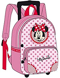 Minnie y sus amies–Mochila con ruedas Minnie Mouse rosa 38cm de alta definición–Mochila