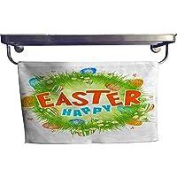 homecoco Sports Ttowel - Póster o Toalla de Cartel con Texto en inglés Happy Easter,