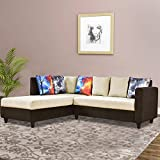 Furny Cassidy FabFurny018 Five Seater L Shape Sofa (Brown)