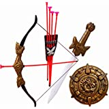 Halo Nation Bahubali Weapon Set for Kids - Archery Set, Kings Sword of Pride, & Many More Accessories (Fire)