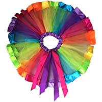 Pixnor ragazze Layered Rainbow tutu gonna a