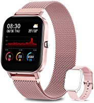 NAIXUES Smartwatch Donna, 1.4 Pollici Orologio Fitness Activity Tracker IP67 Cardiofrequenzimetro Monitor del