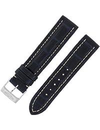 Breitling 18–18mm bracelet en cuir véritable alligator bleu foncé Mesdames W Boucle.