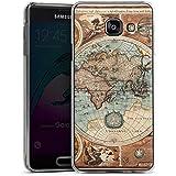 Samsung Galaxy A3 (2016) Housse Étui Protection Coque Carte du monde ancienne Carte Carte