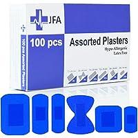 JFA Medizinische blaue Pflaster, 6 verschiedene Größen, 100 Pflaster pro Packung preisvergleich bei billige-tabletten.eu