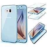 MOMDAD TPU Coque pour Samsung Galaxy S6 Edge Coque Housse Souple de Protection Samsung Galaxy S6 Edge Souple Etui en Silicone pour Samsung Galaxy S6 Edge Coque Samsung Galaxy S6 Edge Transparente TPU Etui Flexible Ultra Mince Coque Poids Léger Soft Silicone Case Cas Couverture Anti Rayure Coquille Anti Choc Hull-Bleu