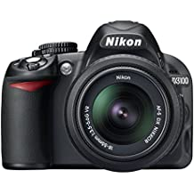 Nikon D3100 Digital SLR Camera with 18-55mm VR Lens Kit (14.2MP) 3 inch LCD (Renewed)