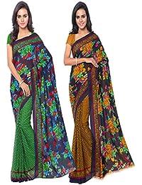 Anand Sarees Faux Georgette/Georgette Saree (Multicolour)
