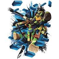 RoomMates 539012 - Póster (vinilo, reutilizable), diseño de Tortugas Ninja