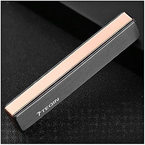 TEQIN Tungsteno Ultrafino Metal Prueba Viento Encendido USB Recargable Carga Encendedores Cigarrillos Electrónicos Cigarro