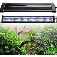 KinshopS Acuarios Eco Acuario LED para acuarios de 120–140cm aufsetzl euchte Aquarium iluminación para Agua Dulce Mar Agua Completo Spectrum Reef Coral Fish Agua Plantas