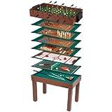 Ultrasport Spieltisch 12-in-1 Game Zone, Kinder Spieltisch mit Tischfußball, Billard, Schach und mehr – Multigame Tisch aus Holz / Metall, sämtliches Zubehör für alle Spiele beim Spieltisch enthalten