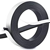 FEIGO Ruban Magnétique, Bande Autocollant Anisotrope Forte d'aimant 3m × 2,5cm × 2mm, Adhésion Extraforte pour Aimanter Photos, Notes, ou Cadres en Toute Sécurité