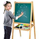 Merkell Standkindertafel Schreibtafel Maltafel Kindertafel Standtafel Holz + ZUBEHÖR magnetisch 108 Teile