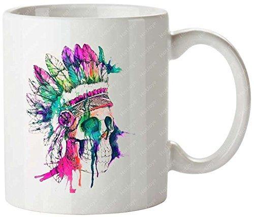 Gothic Sugar Skull Lace Personalized Coffee Cups Unique Coffee Mug(Tazzine da caffè)s