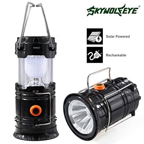 Preisvergleich Produktbild Taschenlampe, Oyedens Wiederaufladbare Solar-Panel Camping Laterne Zelt HäNgende LED Leuchtet Lampe