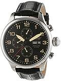 Ingersoll Herren-Armbanduhr Apache Chronograph Automatik Leder IN3900BK