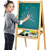 Leomark Deluxe Pizarra Infantil 2 En 1 Pizarra Para Pintar Pizarra Magnética De Madera Tablero De Dibujo Educación Junta Bandeja De Almacenamiento Accesorios