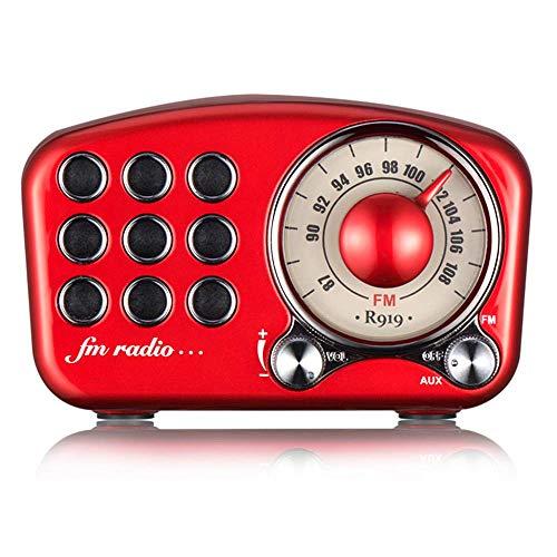 Da-upup Retro-UKW-Radio, Kabelloser Stereo-Retro-Lautsprecher, tragbarer Bluetooth-Vintage-Lautsprecher mit integriertem Mikrofon und starkem Bass, Bluetooth 4.2, TF-Karte und MP3-Player