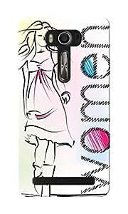 KnapCase Fashion Woman Designer 3D Printed Case Cover For Asus Zenfone 2 Laser ZE550KL