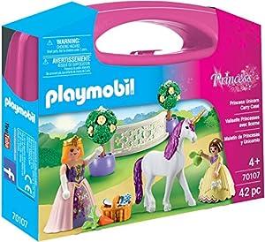PLAYMOBIL- Maletín Grande Princesas y Unicornio Juguete, Multicolor (geobra Brandstätter 70107)