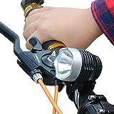 TWBB 3000 Lumen XML Q5 Schnittstelle LED Fahrrad Licht Scheinwerfer (5.6 cm* 4.3cm/ 3.1 cm, Schwarz & Silber)