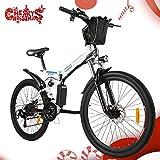 Speedrid Velo Electrique vélo électrique, 26/20 pneus Vélo électrique pour vélo Ebike avec Moteur sans Balai de 250 W et Batterie au Lithium 36V 8Ah Shimano 21/7 Vitesses