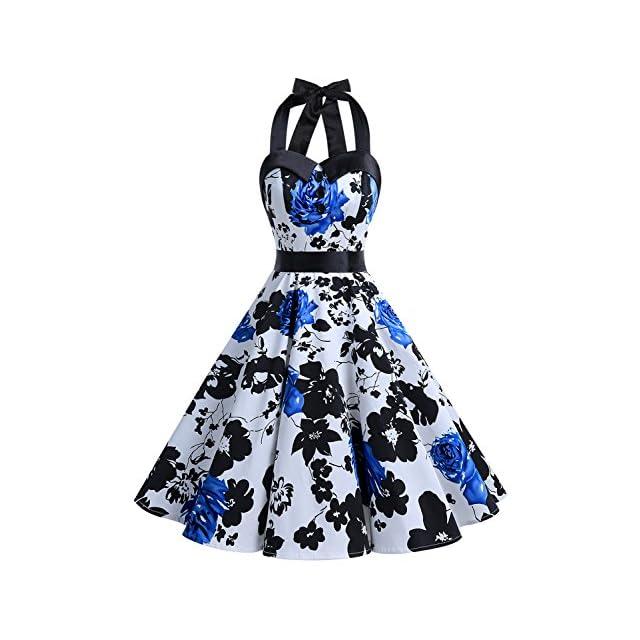 5fc212135ea ... Dressystar Robe de Bal Polka Vintage pin-up à  Audrey Hepburn  50 s 60 s