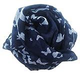 Chèche Écharpe Foulard Femme Homme Très Doux et Long 185 x 110 cm - Plusieurs couleurs disponibles (bleu marine)…