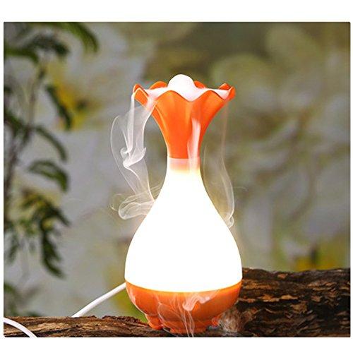 Humidificateur D'Air Ultrasonique ECYC® LED NightLigth Diffuseur D'Huile Aromatique, Orange