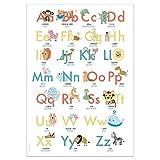 ABC Poster 70,7x100 cm | Alphabet spielerisch mit Tieren lernen | Das ABC-Lernposter mit Groß- und Kleinbuchstaben | ABC-Plakat fürs Kinderzimmer im DIN B1 Format | Stay Inspired! by Lisa Wirth