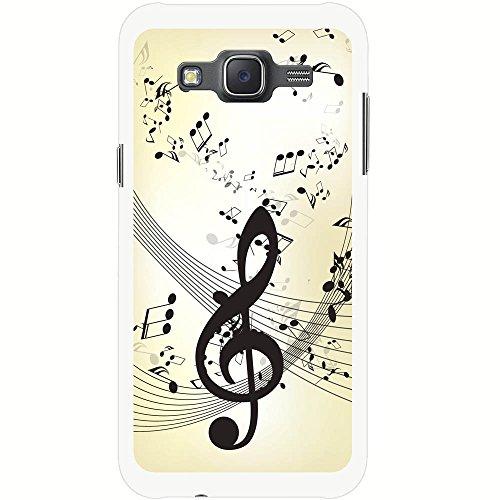 Fancy A Snuggle Violinschlüssel Musiknoten Chaos Hartschalenhülle Telefonhülle zum Aufstecken für Samsung Galaxy J5 (J500FN) 2015 Version (Telefon Santa C)