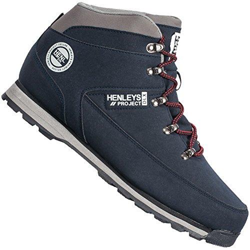Henleys  Hiker Boot, Baskets pour homme bleu marine