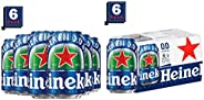 Heineken Lager Beer 0.Alcohol Free (Can) Bottle, 6 x330ml & 0.Non Alcohol Beer - Zero Dot Zero Can - Pack