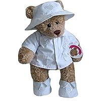 Build Your Bears Wardrobe Teddy Bear Clothes fits Build a Bear Teddies teddy Raincoat (White)