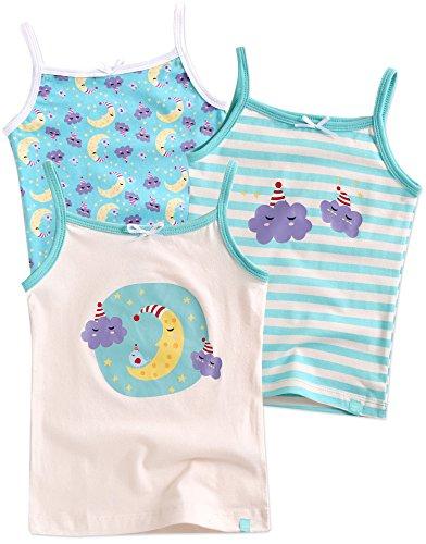 Vaenait baby 86-122 Maedchen Kinder Unterhemd 3-Packung Top Set Cami Sleeping M