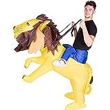 Disfraz de león gato safari hinchable para adultos