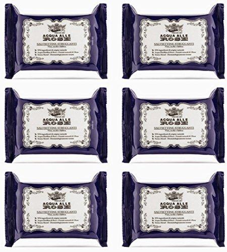 6 X Salviette detergenti Struccanti Acqua alle Rose Roberts offerta stock