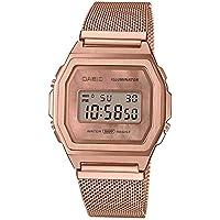 Casio Unisex Digital Quarz Uhr mit Edelstahl Armband A1000MPG-9EF