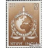 inde 578 (complète.Edition.) 1973 interpol (Timbres pour les collectionneurs)