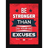 Fatmug Synthetic Motivational Framed Quote Posters for Office and Home Decor (Multicolour)