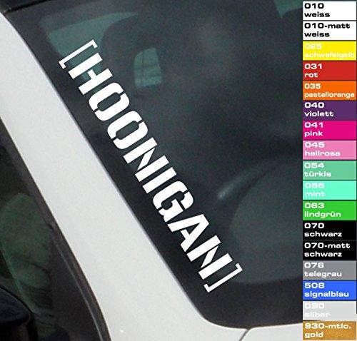 decalstore 1x Autoaufkleber Frontscheibe Hoonigan 55cm Sticker Shocker 17 Farben JDM OEM (telegrau)