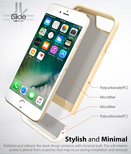 """iPhone 7 hülle, Vena [iSlide][Two-Tone] Dock-Freundlich Slim-Fit Schutz Hart Case Cover für Apple iPhone 7 (4.7"""") - Weiß / Gold Weiß / Gold"""