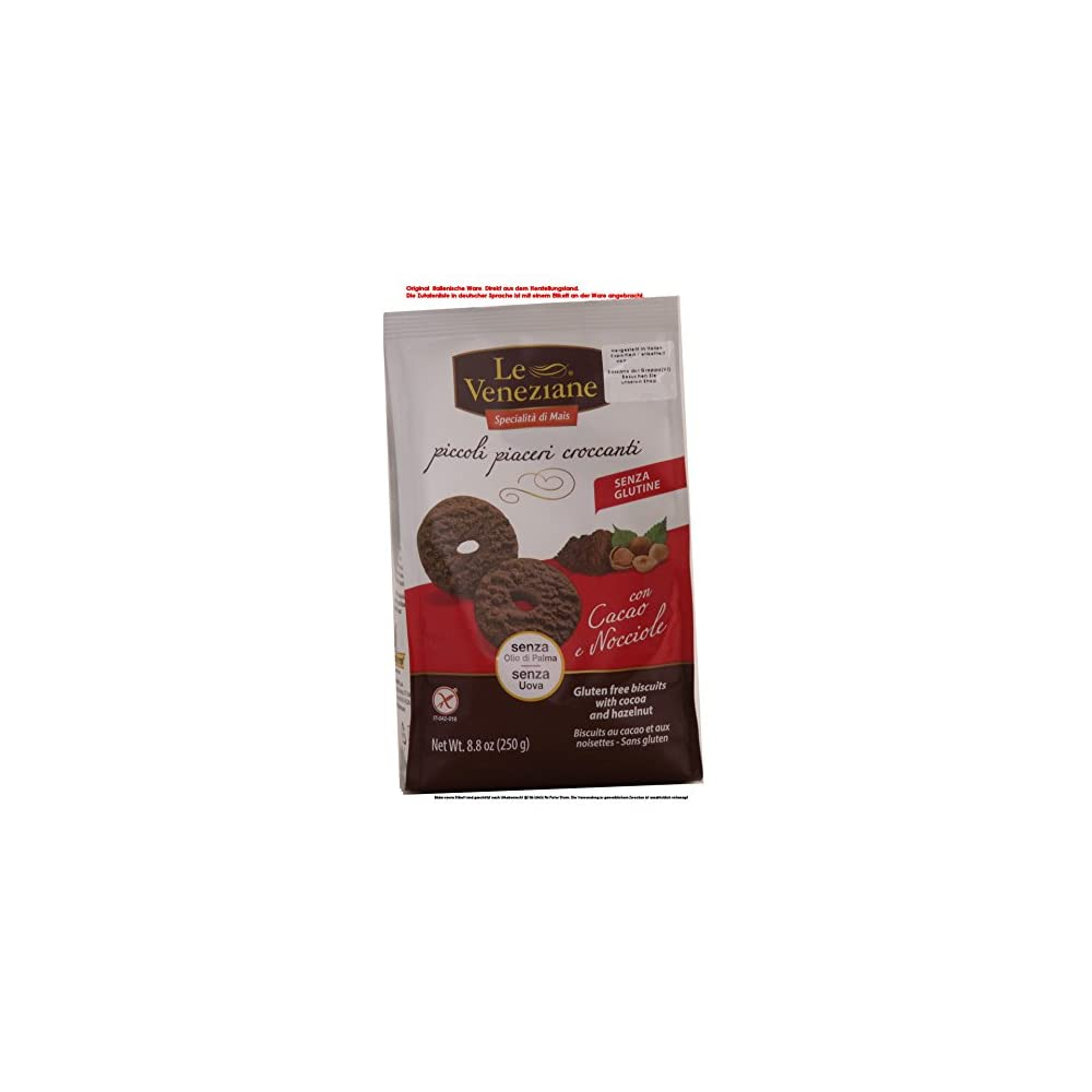 Le Veneziane Biscotti Con Cacao E Nocciole 9 X 250 G 2250g E Ssse Backware Kekse Mit Kakao Und Haselnssen Glutenfrei
