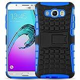 JAMMYLIZARD Outdoor Hülle für Samsung Galaxy J5 2016 | Schutzhülle [Alligator] Doppelschutz Handyhülle Hardcase aus Polycarbonat und Silikon Backcover Lifeproof Case Cover, Blau