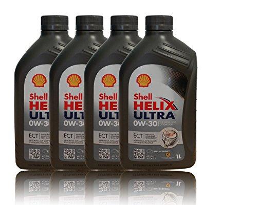 4x1 Liter Shell Helix Ultra ECT 0W-30 API SN; ACEA C3; BMW LL-04; MB-Freigabe 229.51