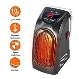 Gesundhome–Mini chauffage céramique électrique portable Handy Heater de 350 W, avec thermoventilateur, thermostat numérique réglable