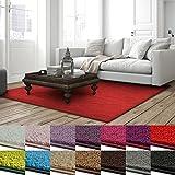 casa pura Shaggy Teppich Barcelona | weicher Hochflor Teppich für Wohnzimmer, Schlafzimmer, Kinderzimmer | GUT-Siegel + Blauer Engel Größen | 140x200 cm | Rot