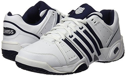 K-Swiss Performance Men Accomplish Ltr Omni Tennis Shoes, White (White/Navy/Silver 167), 7 UK 41 EU